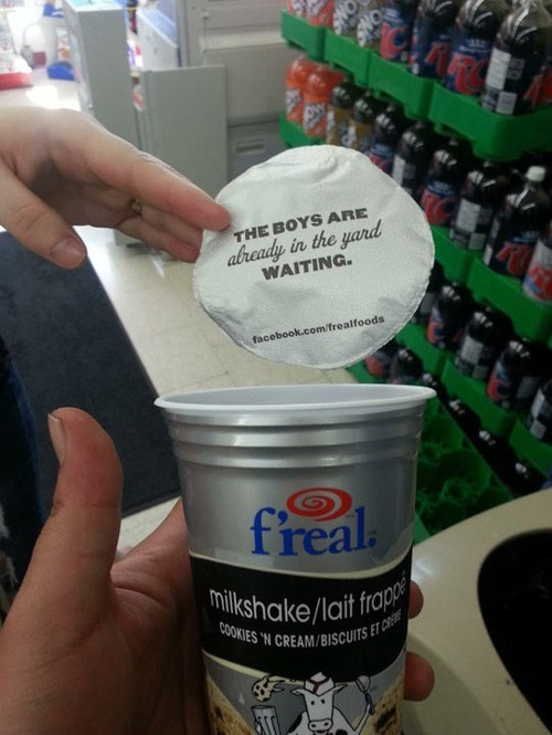 funny milkshake