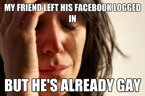 facebook First World Problems