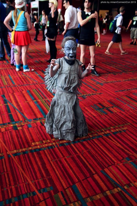 cosplay,kids,weeping angels,doctor who