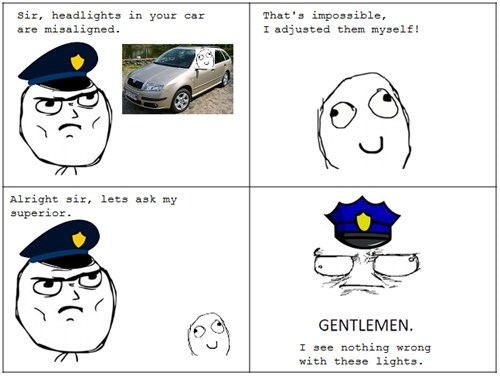 gentlemen,headlights,cars,police