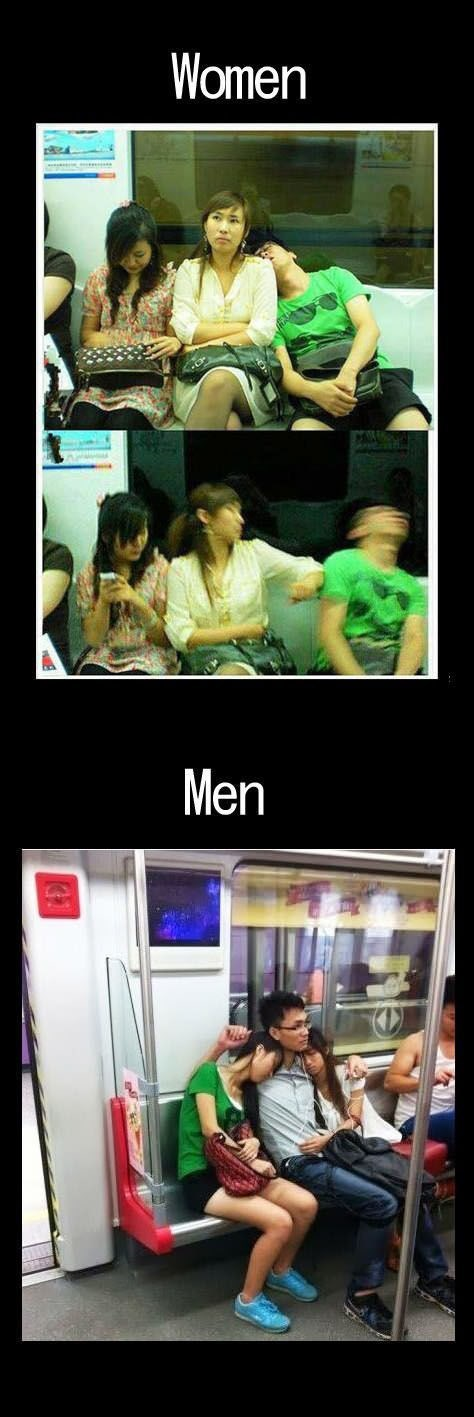public transportation funny men vs women - 7668369664