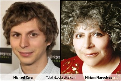 miriam margoyles,michael cera,totally looks like,funny