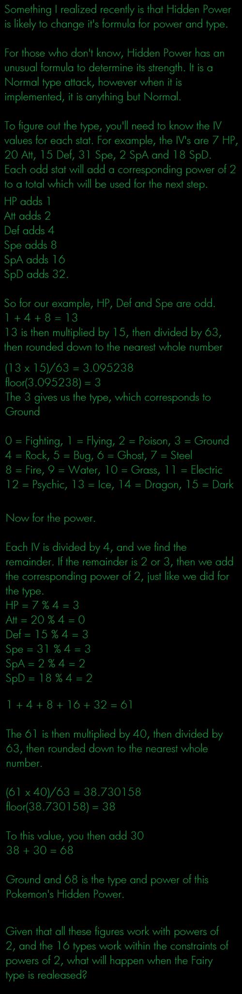 Pokémon theories hidden power - 7669699584