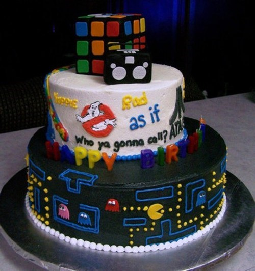 pacman,cakes,Ghostbusters,rubiks cube