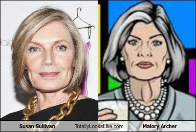 susan sullivan totally looks like malory archer funny