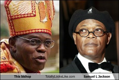 bishop glasses Samuel L Jackson totally looks like funny - 7669863168