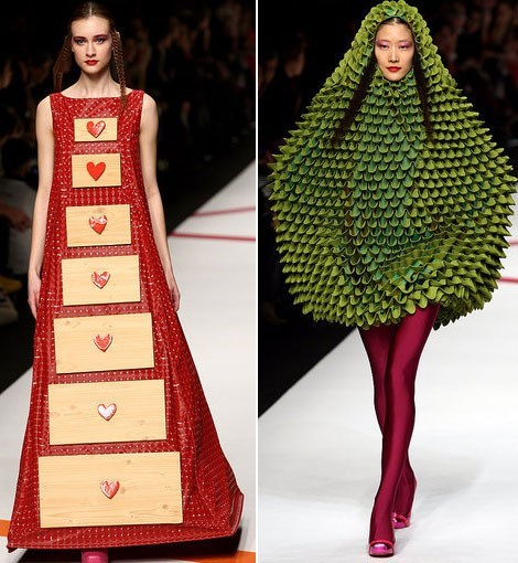 Someone Actually Sat Down and Designed a Dressing Drawers Dress and a Pear Dress.