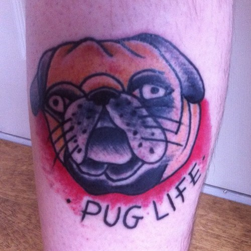 dogs tattoos pugs thug life funny - 7670188288