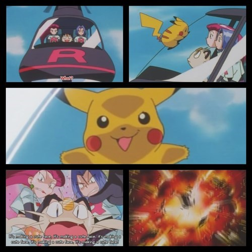 Team Rocket anime pikachu - 7670278912