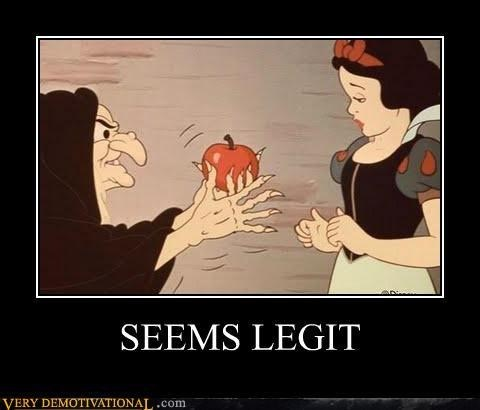 snow white,apple,funny,seems legit