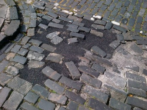 pavement streets cobble stones funny - 7670379776