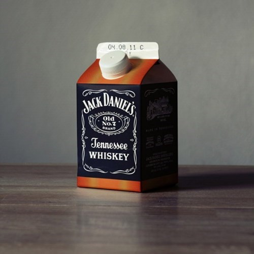 jack daniels whiskey milk carton funny - 7670550784