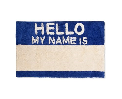 welcome mat design name tag funny