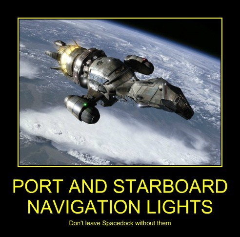 PORT AND STARBOARD NAVIGATION LIGHTS Don't leave Spacedock without them