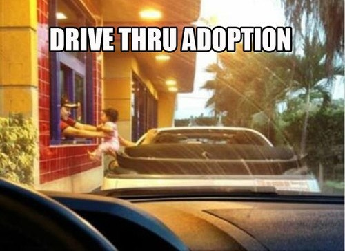 wtf,kids,IRL,drive thru