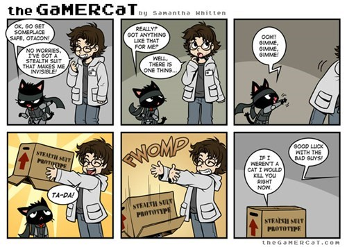 comics metal gear the gamercat