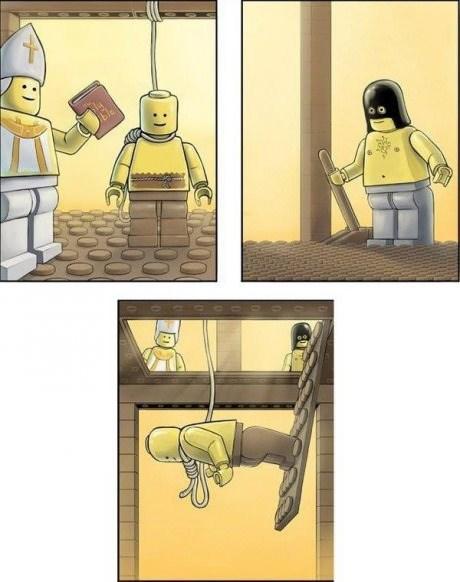 yikes wtf hanging legos funny - 7670834176