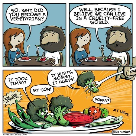 vegetables sad but true vegetarians funny web comics - 7670863360