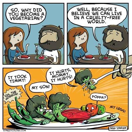 vegetables sad but true vegetarians funny web comics - 7670863360