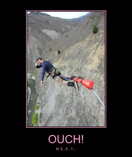 ouch bungee jumping funny - 7671065856