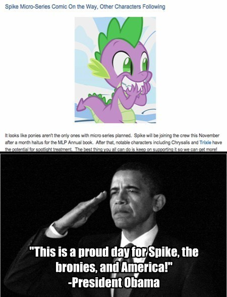 equestria daily spike barack obama - 7671605504