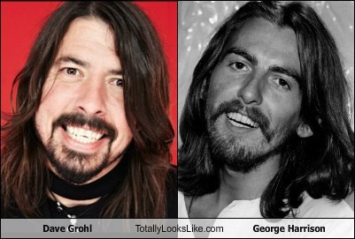 Dave Grohl,totally looks like,funny,george harrison