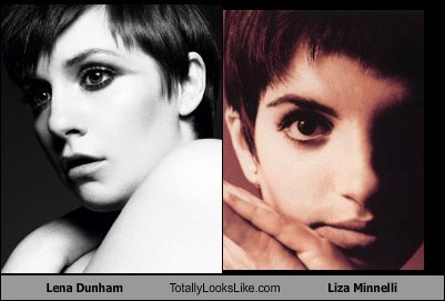 Liza Minnelli,totally looks like,Lena Dunham,funny