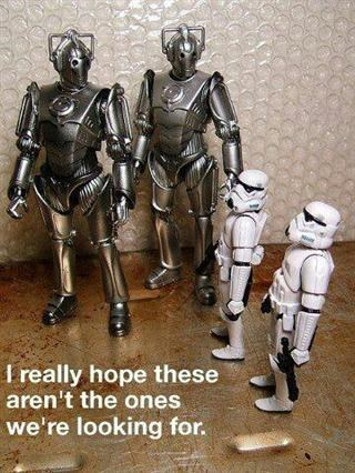 star wars,stormtrooper,cybermen,doctor who