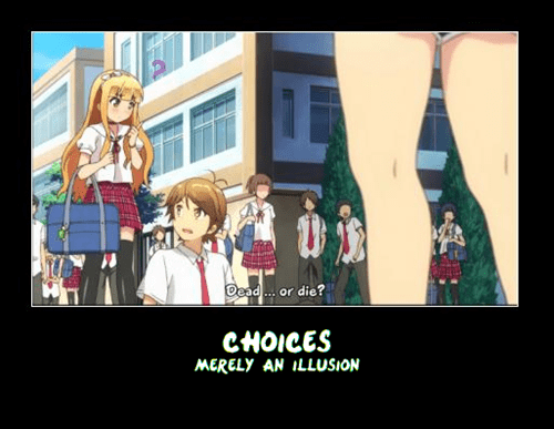 anime choices overrated funny - 7672335872