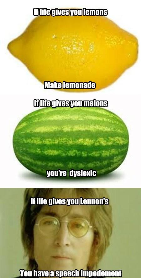 dyslexia lemons melons funny - 7672367616