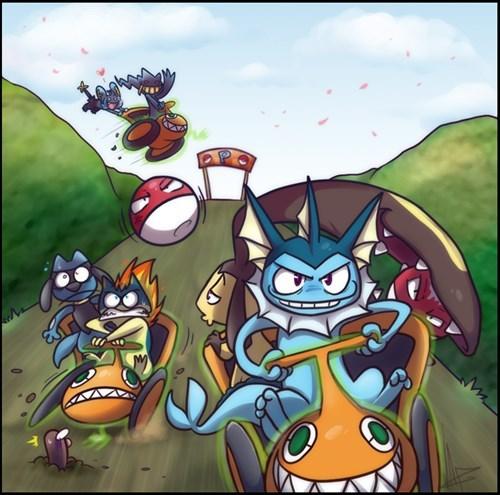 Pokémon art Mario Kart rotom - 7672528896