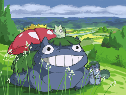 Pokémon,art,venusaur,my neighbor totoro
