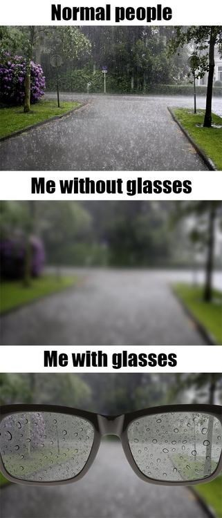 IRL,glasses,rain