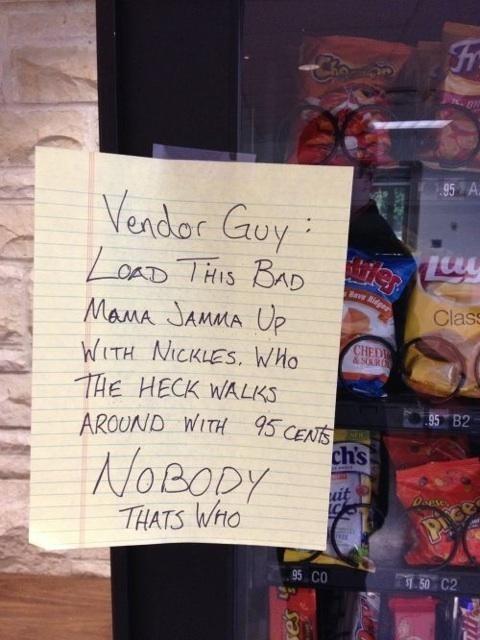sign note vendor funny - 7672895744