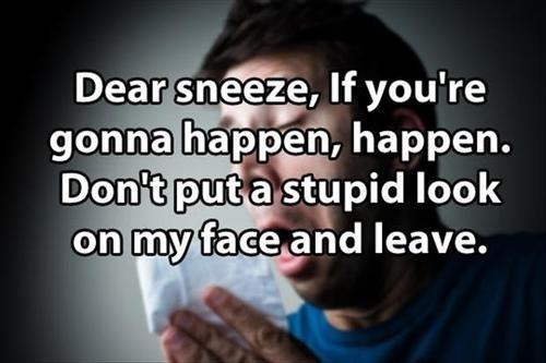 annoying,sneezing