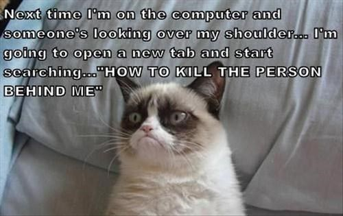 Grumpy Cat,leave me alone,pcs,screen watching