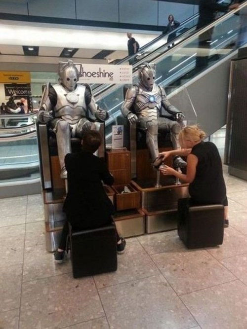 mall nerdgasm cybermen doctor who funny g rated win - 7673205248