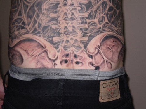 tattoos spines back tattoos funny - 7673244672