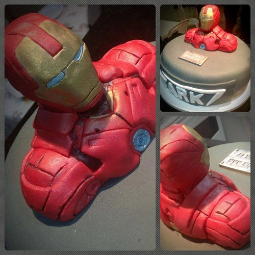 marvel cakes iron man noms - 7673254912
