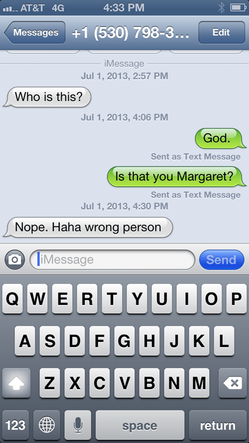 iPhones,wrong numbers,are you there god,funny