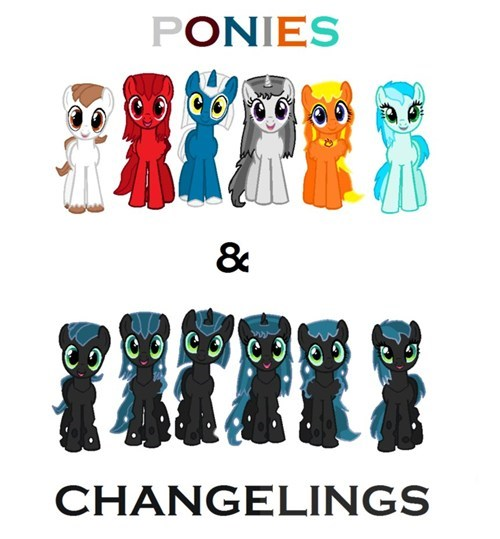 ponies changelings - 7674020352