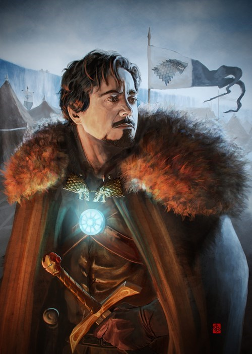 Game of Thrones tony stark Fan Art iron man - 7674750464