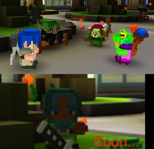 photobomb cube world NPCs funny