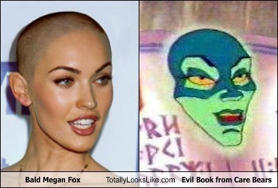 megan fox,care bears,evil book,totally looks like,funny