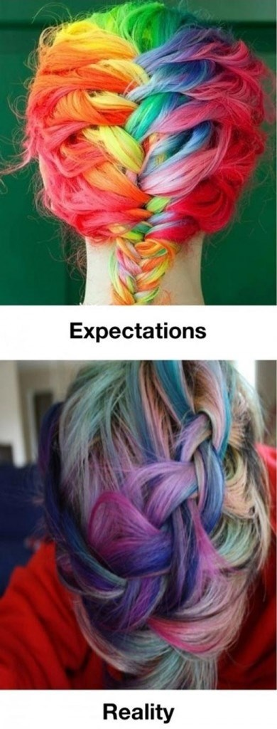 hair,expectation,braid,rainbow