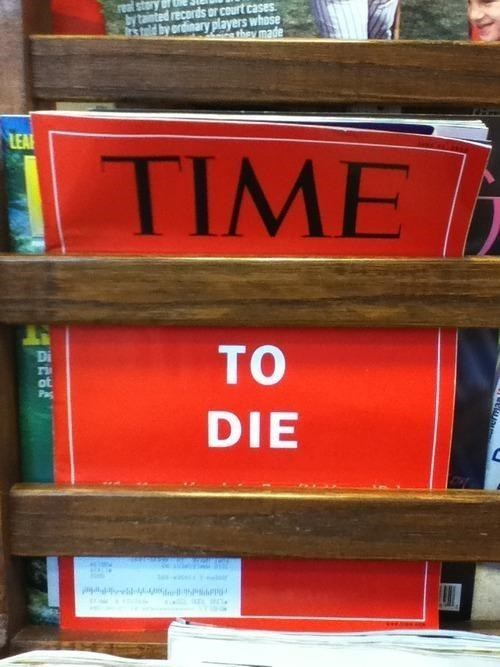 time time to die doctors office magazines