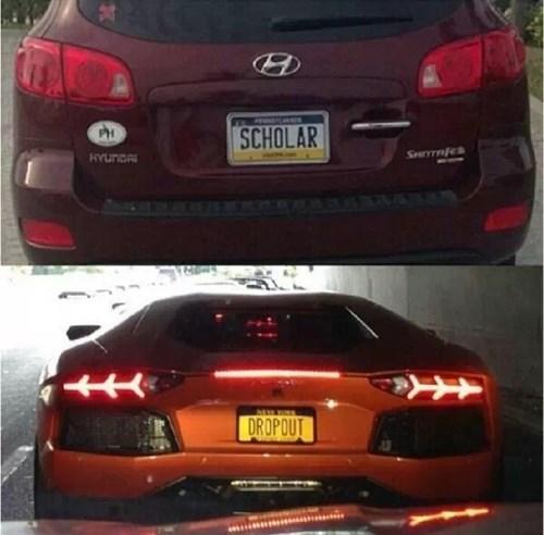 scholar license plates lamborghinis dropout - 7675017216