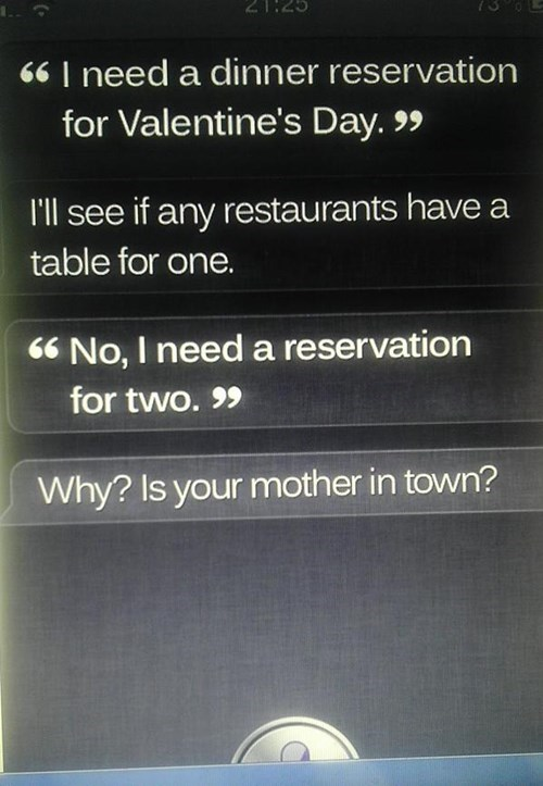 siri dates Valentines day