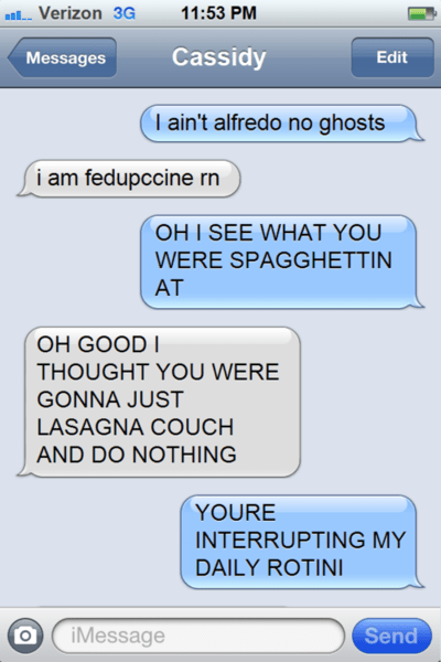 texts pasta puns funny - 7675067392