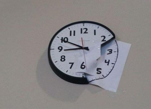 clocks punch the clock time is fleeting funny - 7675218944